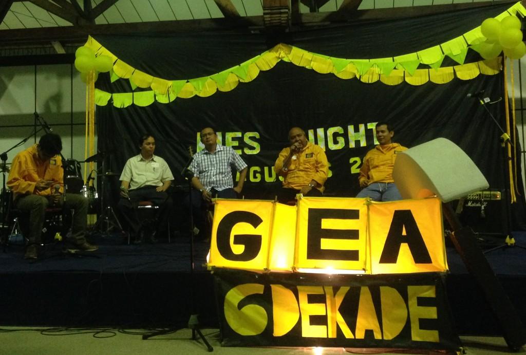 Beberapa alumni GEA dalam sesi sharing alumni