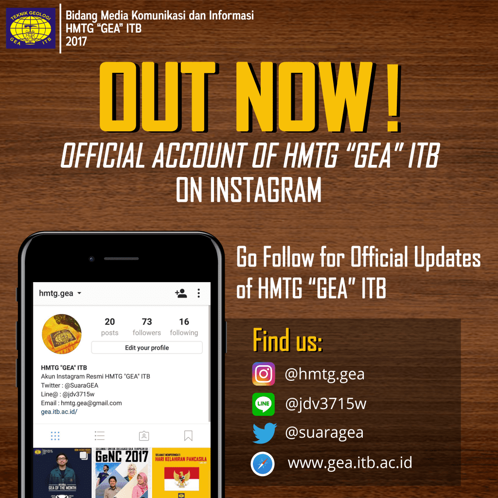 "OUT NOW! : HMTG ""GEA"" ITB ON INSTAGRAM"